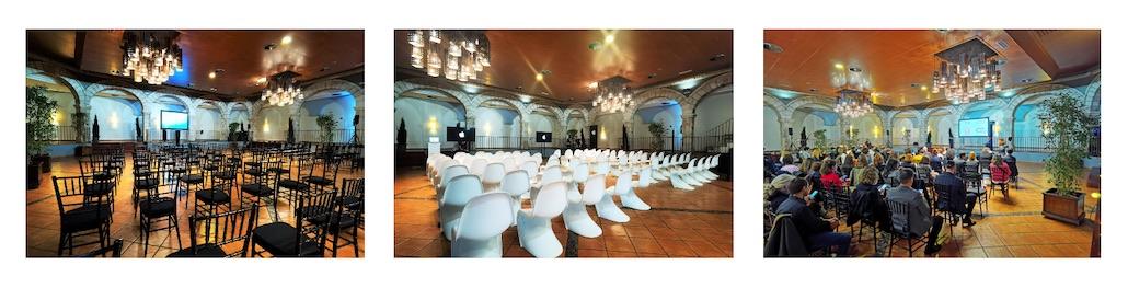 Organización de eventos híbridos en Madrid, presenciales y online, en los espacios para eventos de El Antiguo Convento