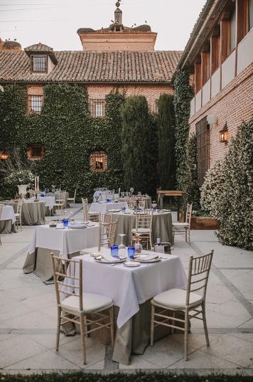 Restaurante con terraza en Boadilla del Monte en los exclusivos espacios para bodas y eventos en Madrid de El Antiguo Convento