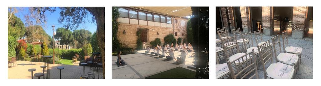 Organización de eventos wellness en Madrid en los espacios y fincas de El Antiguo Convento.